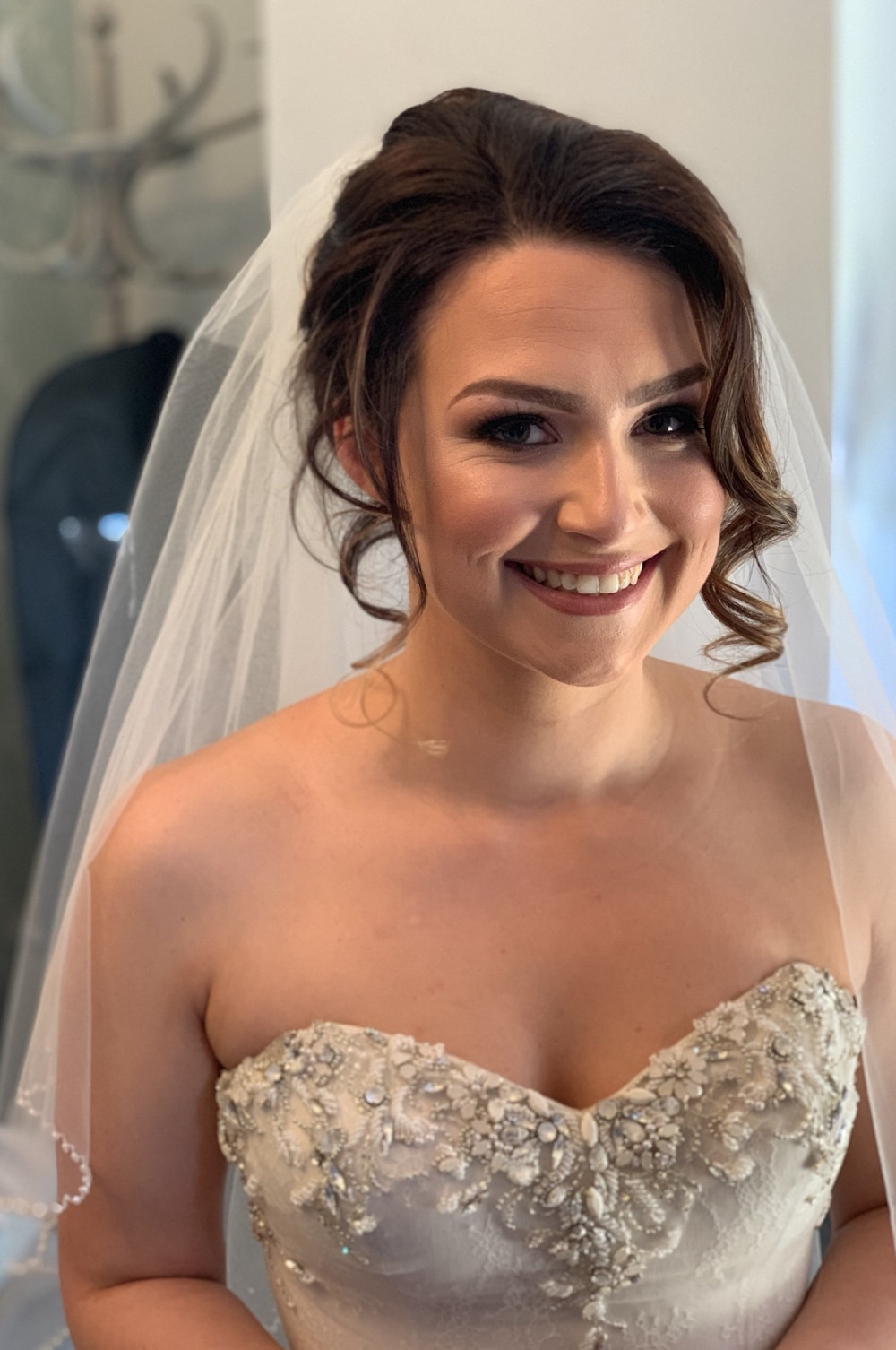 Beautiful bride smiling at the camera