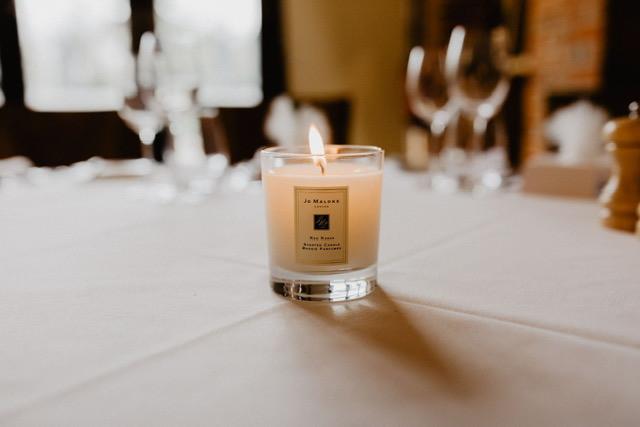 Luxury wedding candle