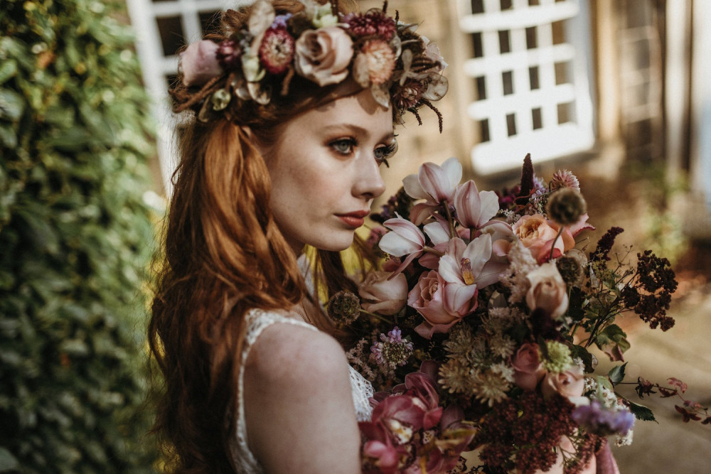 Botanical art nouveau bridal shoot  - Makeup and Hair by Julia Jeckell ...Photography by Mariola Zoladz ...