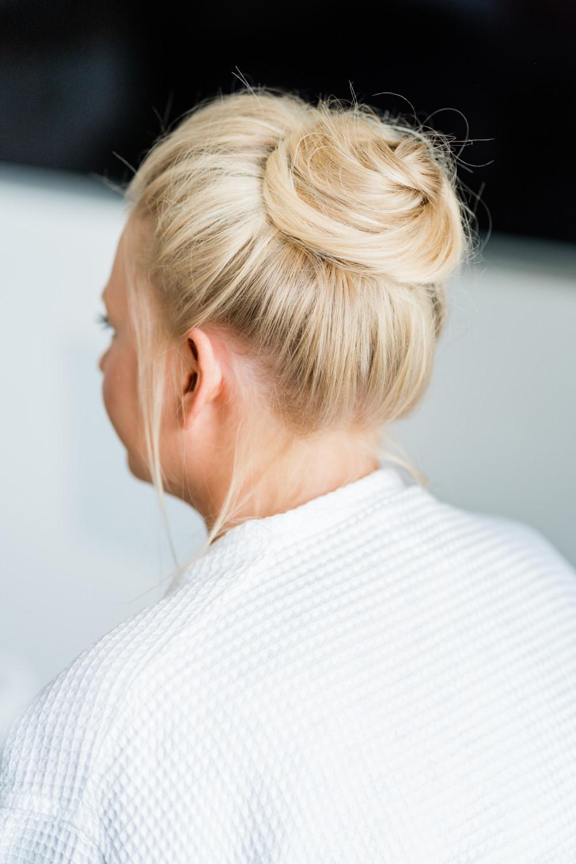 - Make Me Bridal Artist: Glow-Occasion Hair Specialists. Photography by: Gemma Giorgio. #classic #weddinghair #highbun #bun #bridalhairup #softhair