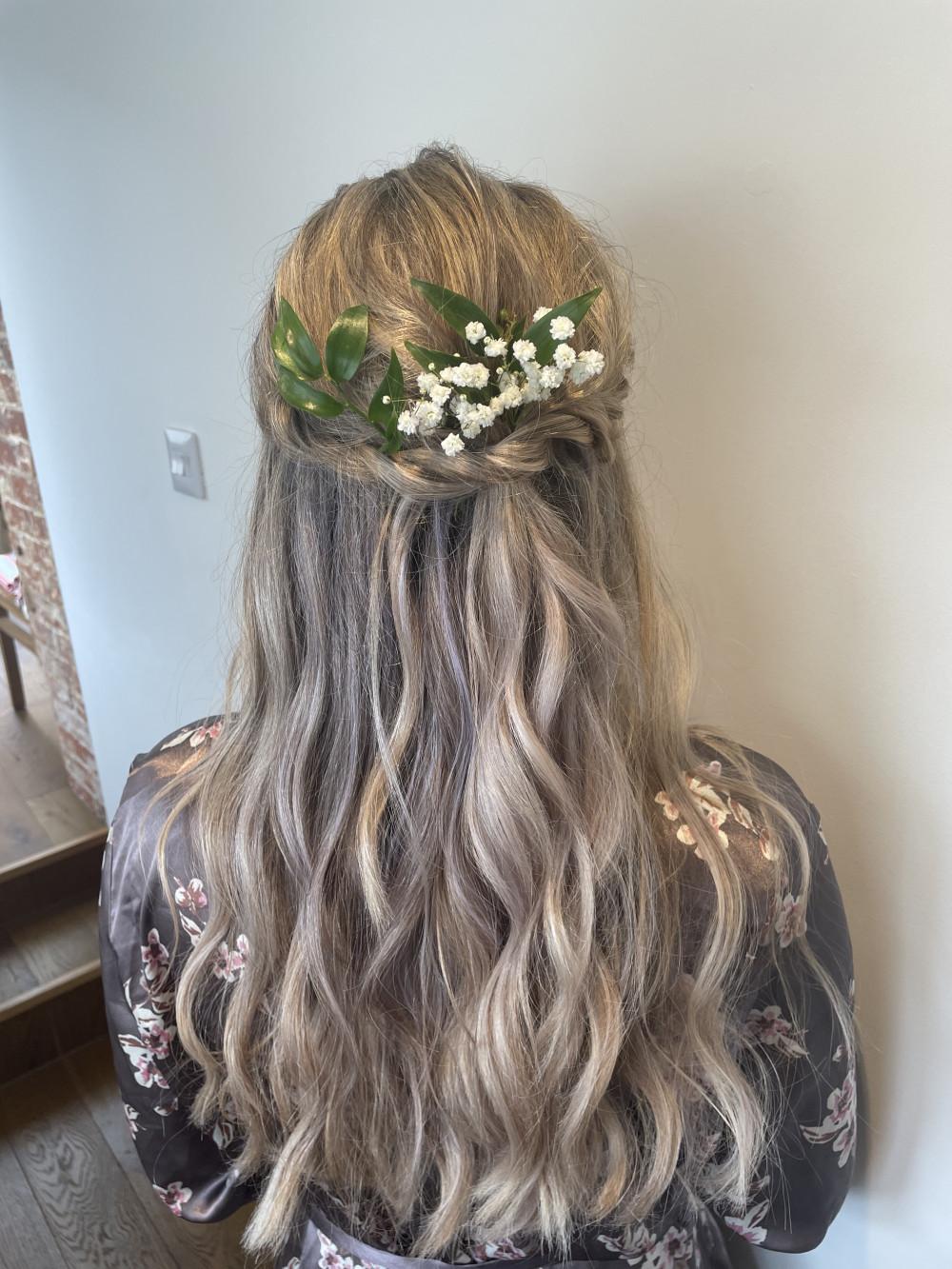 - Make Me Bridal Artist: Glow-Occasion Hair Specialists. #classic #boho #curls #gypsophila #bridalhair #flowersinherhair #pretty