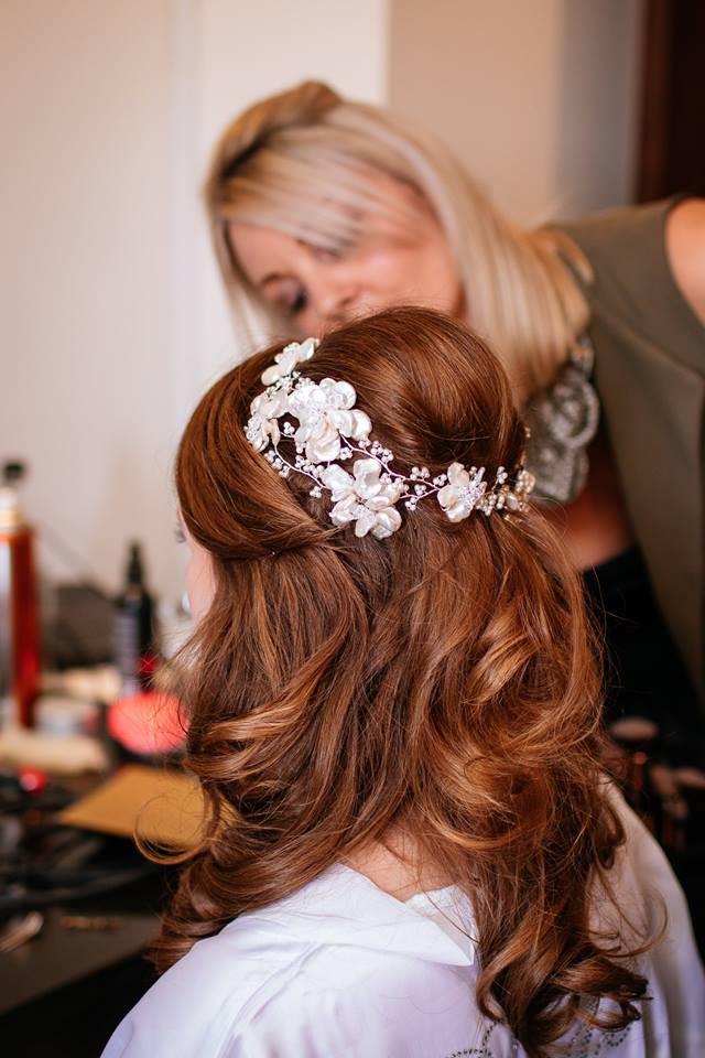 Wedding hair and makeup prep Cambridge Cambourne Belfry - Make Me Bridal Artist: Cambridge Makeup Artist - Hair & Makeup. #weddingmorning #bridalhair #weddinghair #halfuphair