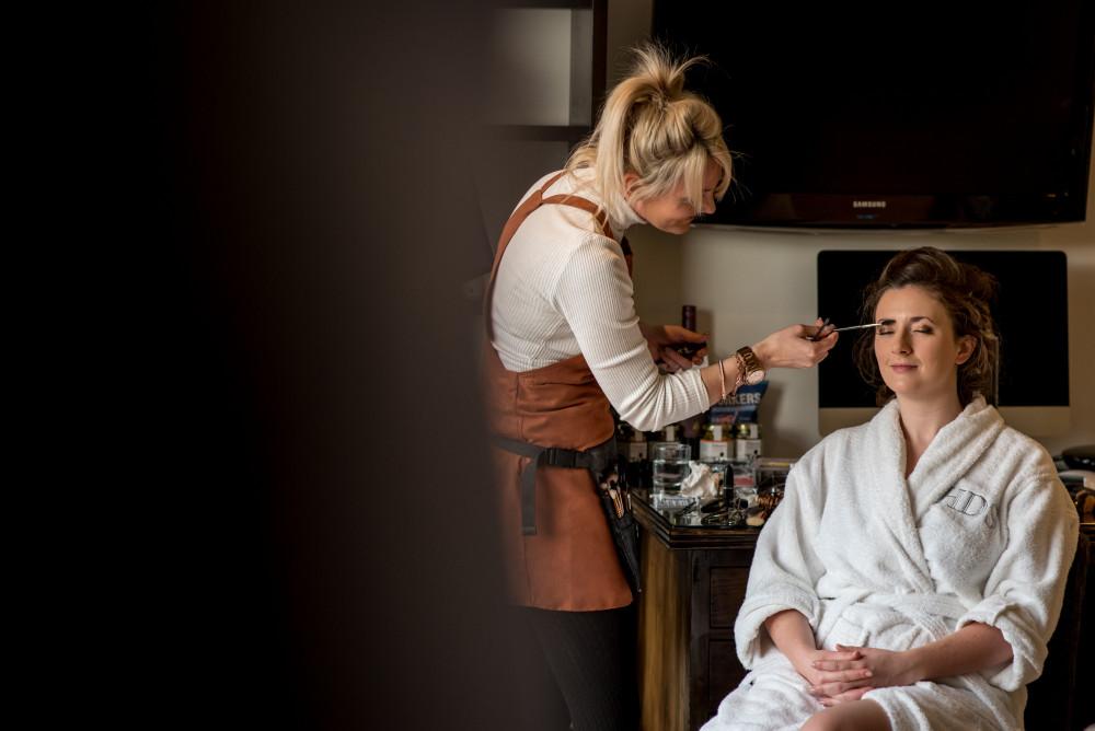 Wedding morning prep, Hotel Du Vin, Cambridge - Make Me Bridal Artist: Cambridge Makeup Artist - Hair & Makeup. #meatwork #bridalmakeup #winterwedding #winterweddingmakeup