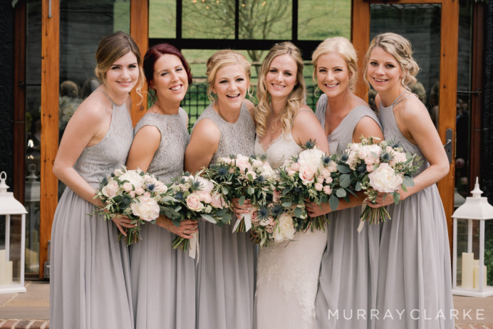 Bride and her Bridesmaids Hair & Makeup - Make Me Bridal Artist: Head Turners - Martine Turner. Photography by: Murray Clarke. #bohemian #glamorous #bridalhair #flowersinherhair #bridalmakeup #romantichairup #hairup #bridesmaidhair #bridalhairstylist #bridesmaidhairandmakeup #bridalmakeup #bridesmaidmakeup #weddingmakeup #bridahairup