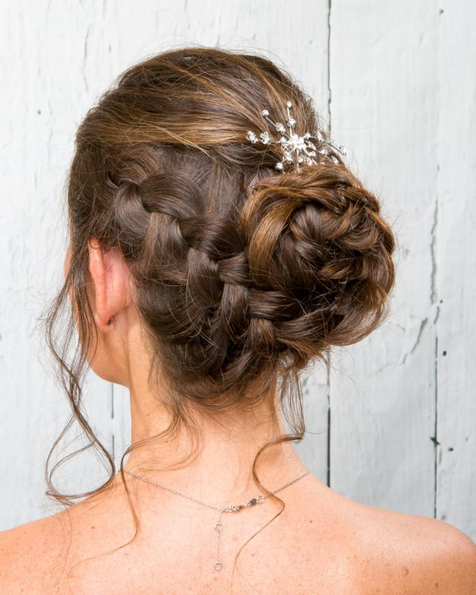 Bridal undo with plait one side - Make Me Bridal Artist: Head Turners - Martine Turner. Photography by: Robert Bousfield. #glamorous #curls #bridalhair #braidedupdo #weddinghair #bridalhairstylist #bridesmaidhair #glambride #weddinghair #updo #plait #plaitupdo #summerwedding #sussexhair