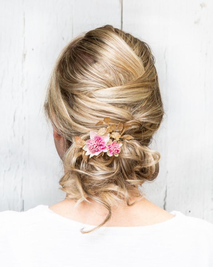 Wedding / bridal hair by Martine Turner - Make Me Bridal Artist: Head Turners - Martine Turner. #bridalhair #hairup #bridalhairstylist #bridesmaidhair #weddinghair #eleganthair #texturedupdo #weddinghairstylist #prettyupdo #bridalhairup