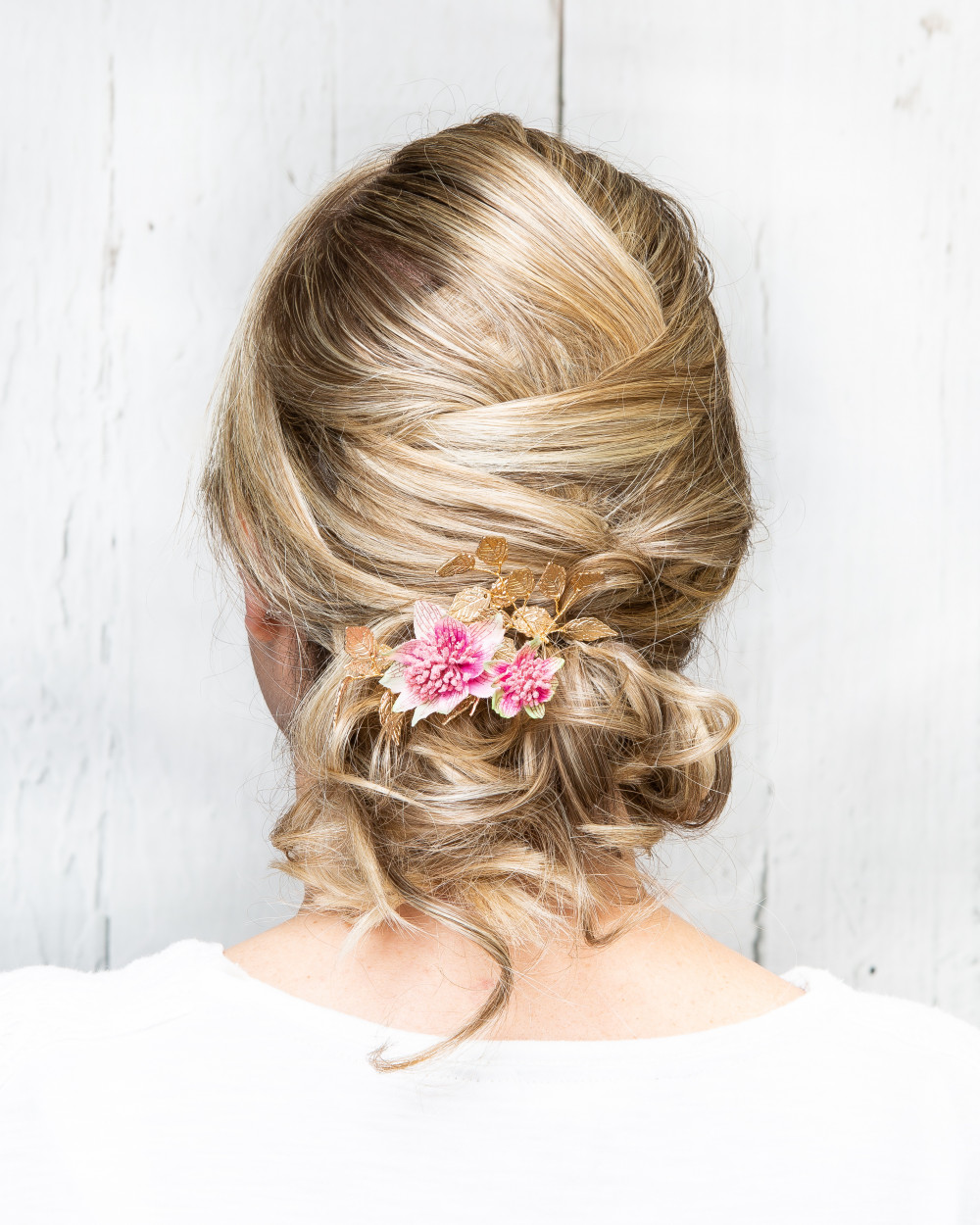 Wedding / bridal hair by Martine Turner - Make Me Bridal Artist: Head Turners - Martine Turner. #bridalhair #hairup #bridalhairstylist #bridesmaidhair #weddinghair #eleganthair #texturedupdo #weddinghairstylist #prettyupdo #bridalhairup