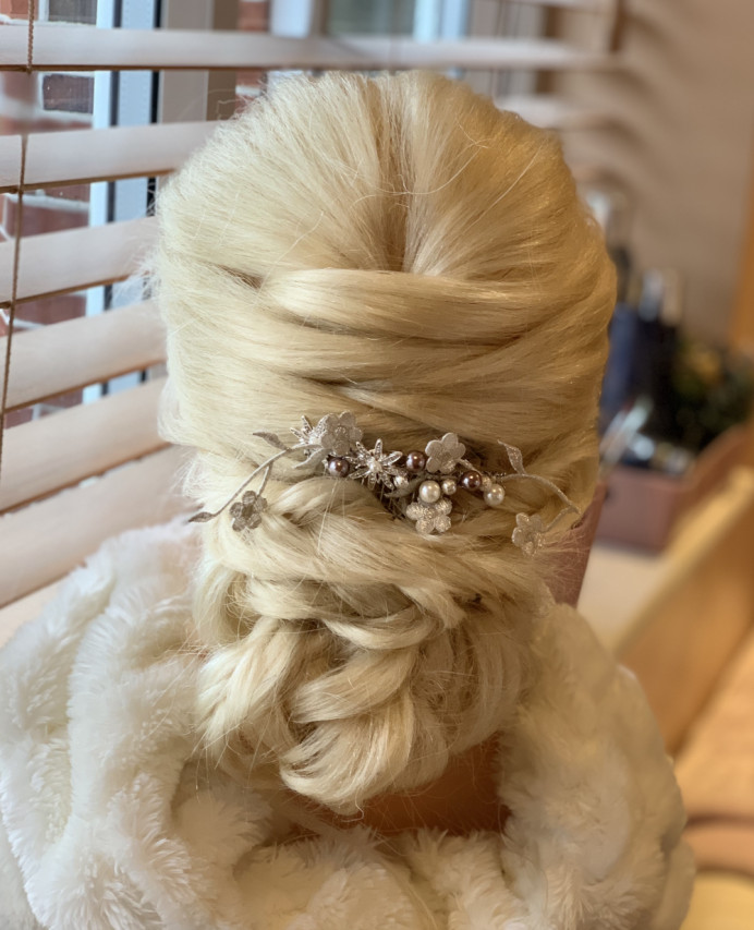 - Make Me Bridal Artist: Head Turners - Martine Turner. #classic #glamorous #updo #lowupdo #bridesmaidhair #classy #bridalhairstylist #weddinghair #twistedupdo #blondebride #bridalhair