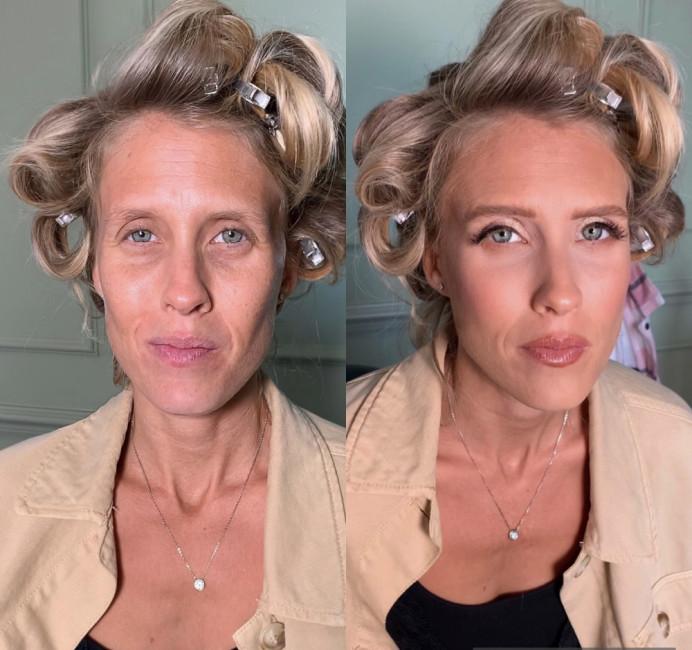Before and After - Make Me Bridal Artist: Makeup By Olivia. #bridalmakeup