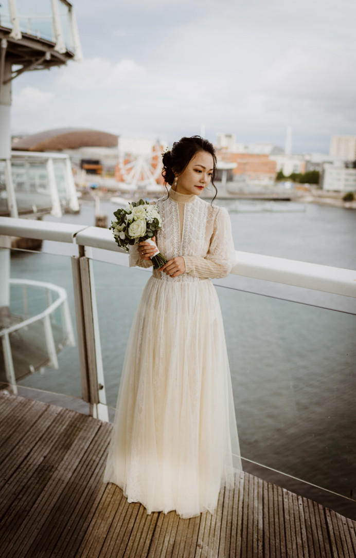 China Doll - Make Me Bridal Artist: Janet White-Ashby & Co.. Photography by: Simon Murray Images. #naturalmakeup #weddingmorning #bridalmakeup #bridalhair #prep #chignon #chinesebride #makeup #asianbride #hair #weddingdress #bridehair