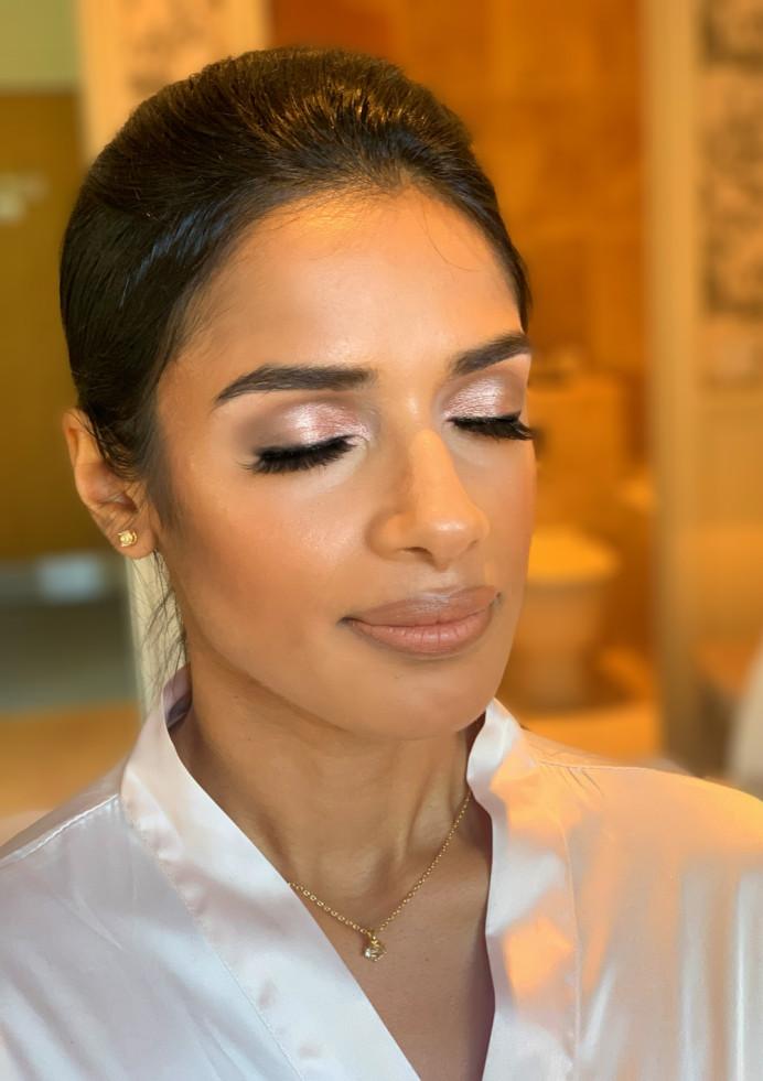 - Make Me Bridal Artist: Makeup by Corrina. #goldeyeshadow #glow #bridesmaidmakeup