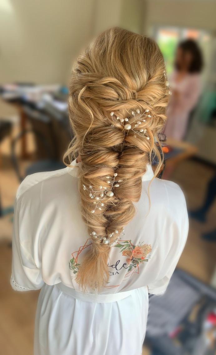 - Make Me Bridal Artist: Makeup by Corrina. #bohobride #mermaidbraid