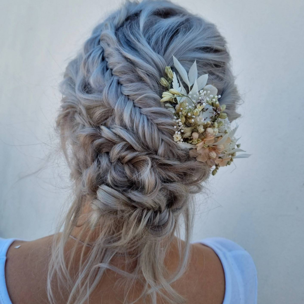 - Make Me Bridal Artist: Victoria Louise Bridal Hair. #bohemian #boho #flowersinherhair #bohobride #bohowedding #bohobridesmaid