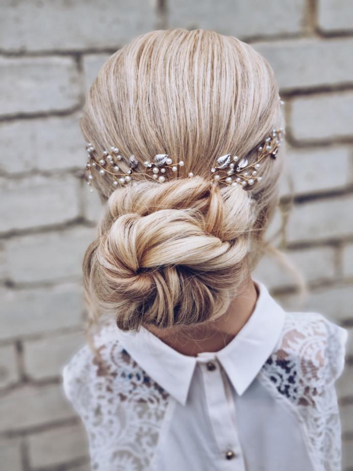 - Make Me Bridal Artist: Victoria Louise Bridal Hair. #lowbun #bridalhair #sleekupdo