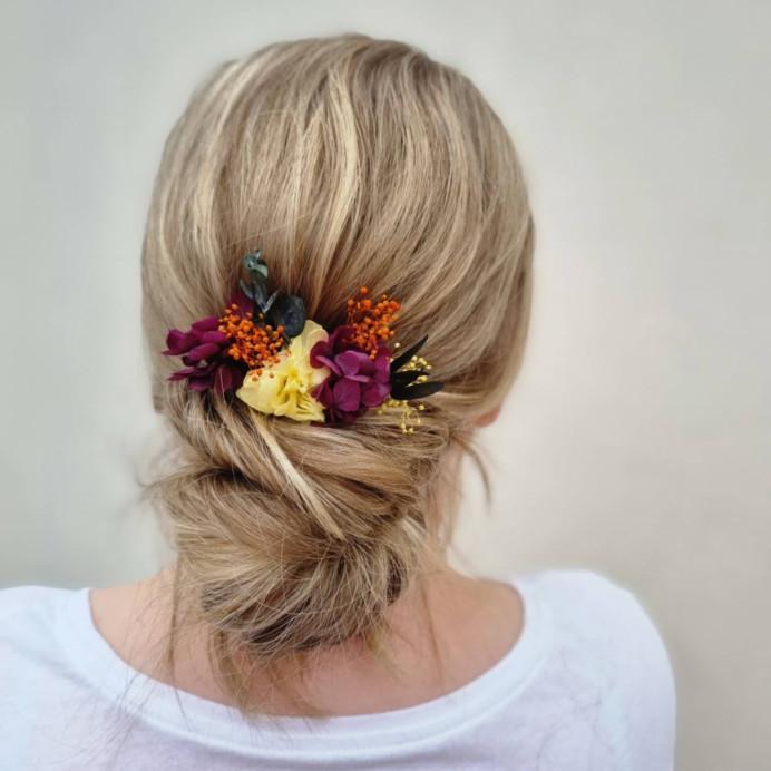 - Make Me Bridal Artist: Victoria Louise Bridal Hair. #bohemian #boho #flowersinherhair #lowupdo #lowbun