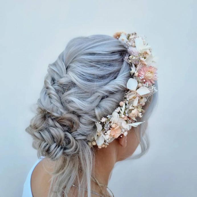 - Make Me Bridal Artist: Victoria Louise Bridal Hair. #bohemian #boho #flowercrown #bohobride #weddingweddinghairweddinginspobridebridehairveildevonwedding
