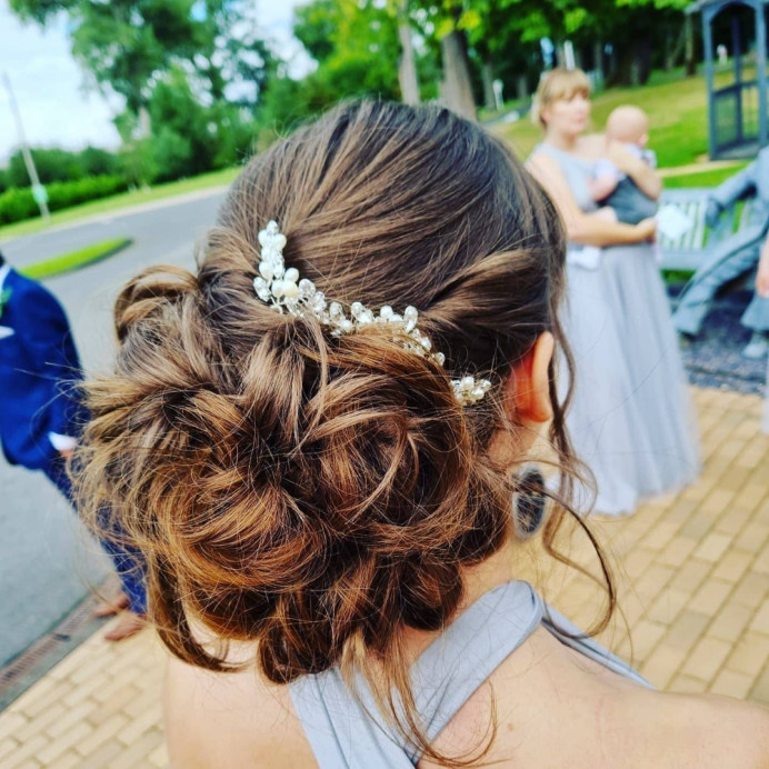 - Make Me Bridal Artist: Victoria Louise Bridal Hair. #boho #messybun #bridesmaidhair #bridalhairstylist