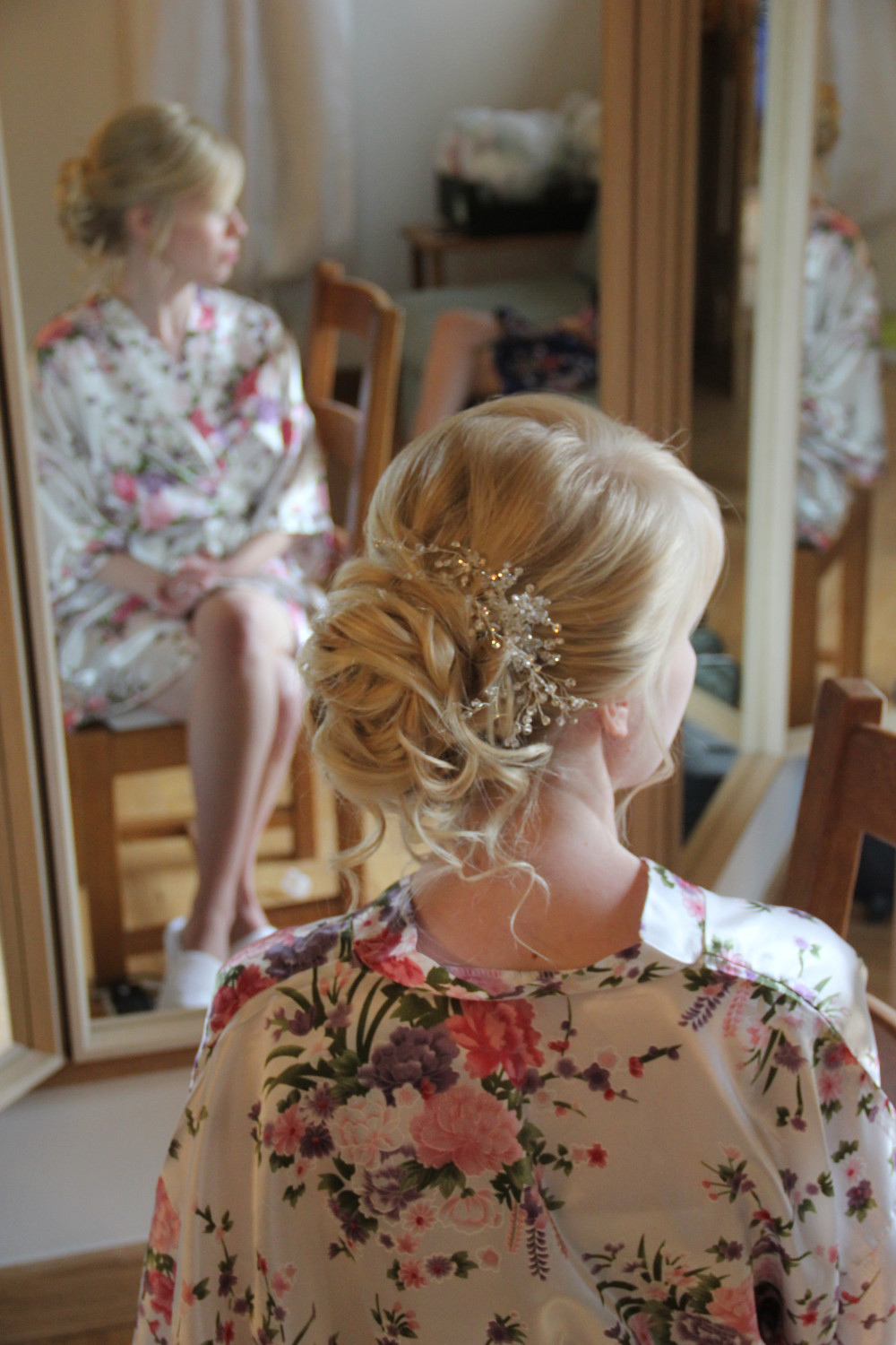 A gorgeous soft up do on fine textured hair. I used padding to lift out and create that lovely bun shape - Make Me Bridal Artist: Wedding hair by Tara. #hairup #curls #undoneupdo