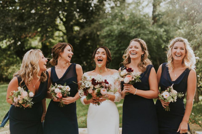 Charlotte and her bridesmaids x - Make Me Bridal Artist: BEYOU Weddings hair & makeup. #classic #relaxedupdo #halfuphair #beautifulbridalmakeup #bridalparty