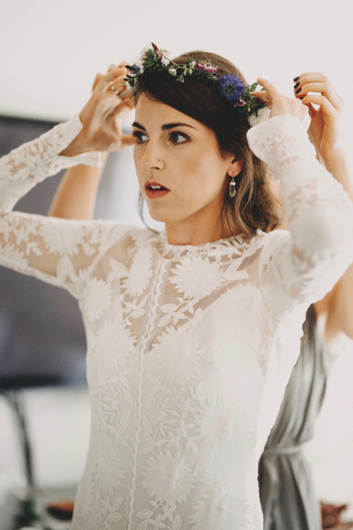 Boho bride, Katy at her festival style wedding x - Make Me Bridal Artist: BEYOU Weddings hair & makeup. #bohemian #flowercrown #naturalmakeup #bridalmakeup #bridalhair #beautifulbridalmakeup #chic