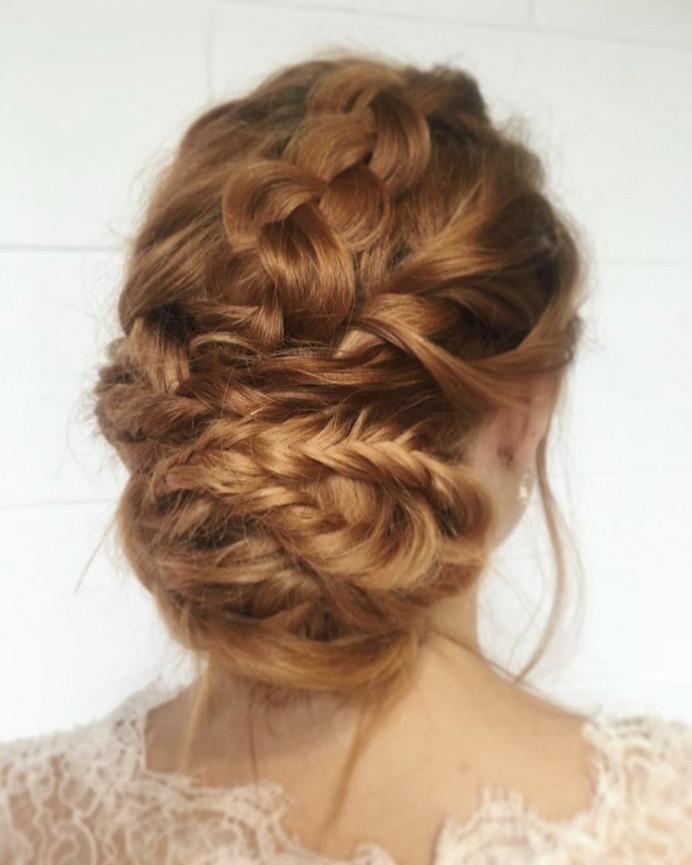 - Make Me Bridal Artist: BEYOU Weddings hair & makeup. #coolbride #redhead #braidedupdo #twistedupdo #modernbride