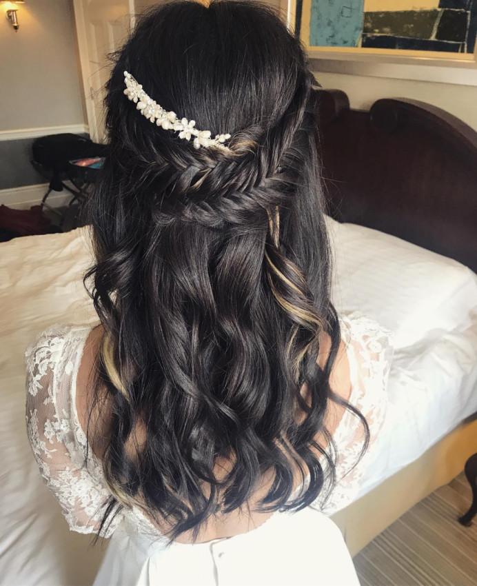 - Make Me Bridal Artist: BEYOU Weddings hair & makeup. #bohobride #halfuphalfdown #bridalhair #modernbride #weddingmakeupkent #bridalhairstylist #bohochic #braidedhalfuphalfdown #fishtailbraid #brunettebride #weddinghairkent
