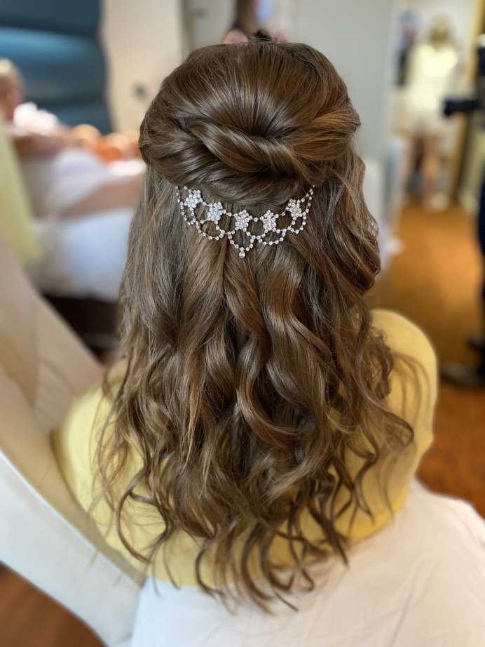 - Make Me Bridal Artist: Sapphire Styling hair and makeup . #halfuphair