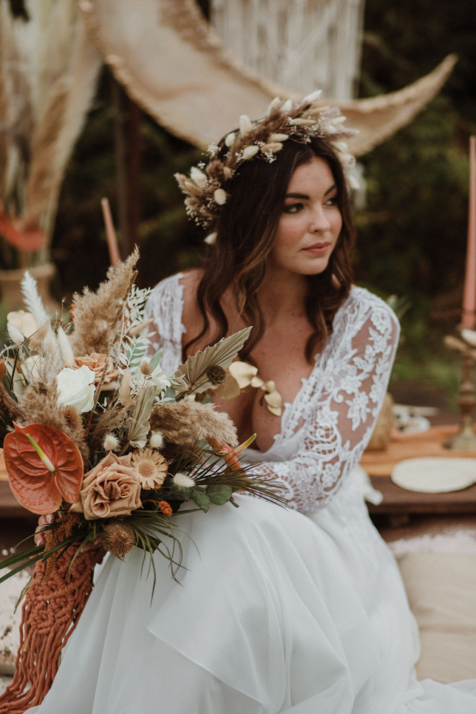 - Make Me Bridal Artist: Sapphire Styling hair and makeup . Photography by: Lola rose. #bohemian #bohobride #bohowedding #bohomakeup #bohohair