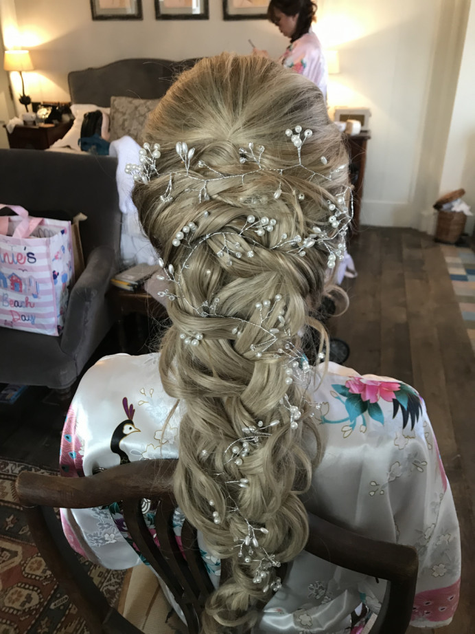 - Make Me Bridal Artist: Sapphire Styling hair and makeup . #bohemian #braidedupdo #relaxedhairup