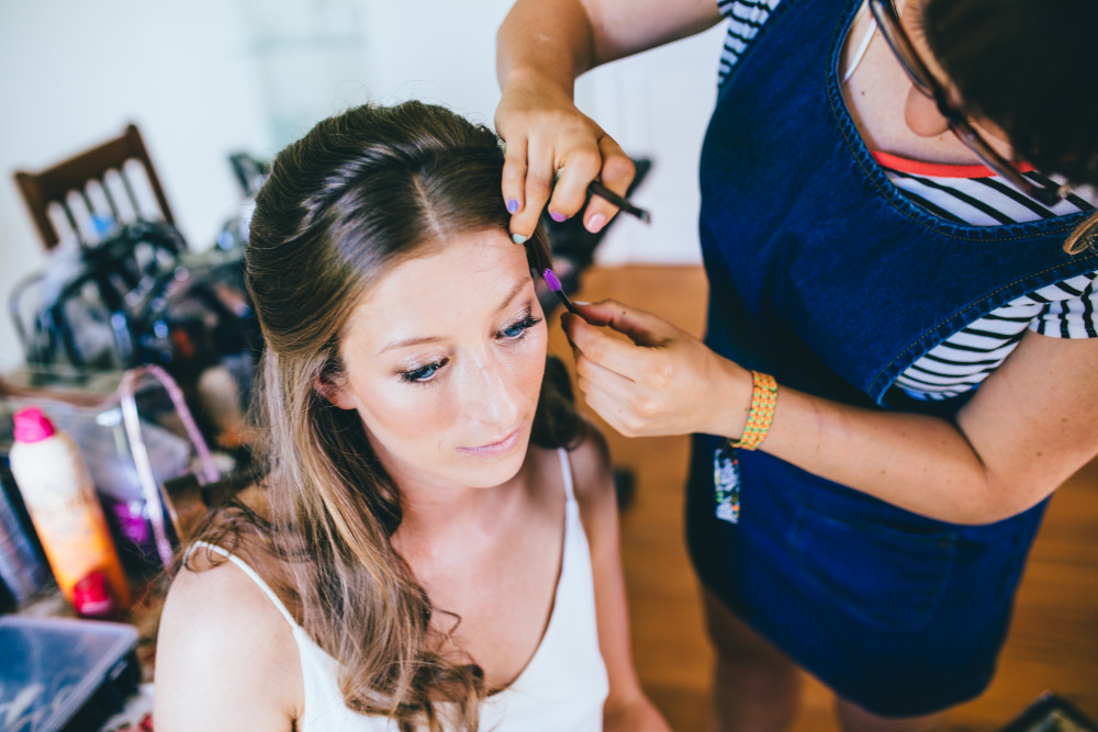 - Make Me Bridal Artist: Laura Anne Hair & Makeup Designer. Photography by: Becki. #naturalmakeup #halfuphair #londonwedding #glowingskin #freshmakeup #softcurls #summerwedding #trendybride #modernbride #londonbride #freshflowers #summerbride