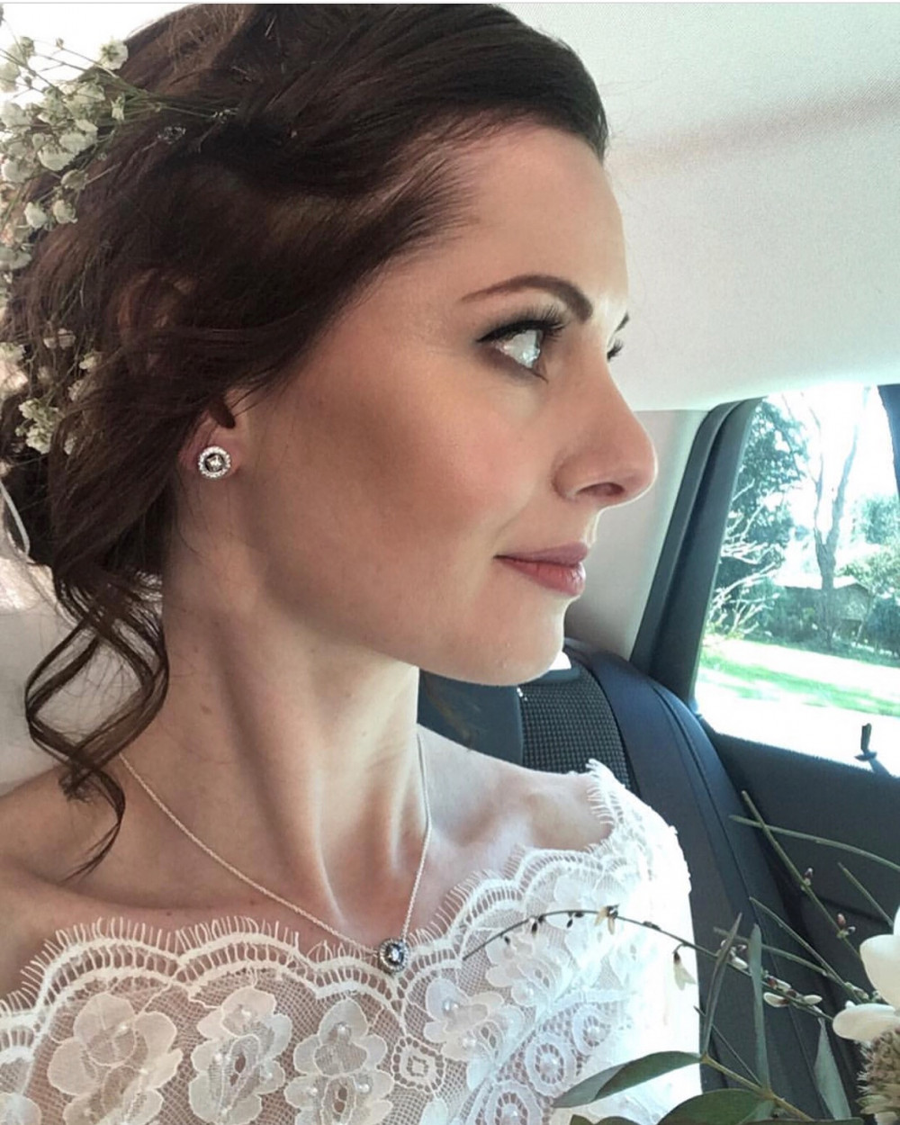 Louise on her way to become Mrs Chapman - Make Me Bridal Artist: Aston's Makeup and Beauty . Photography by: Photogenic photography . #classic #vintage #glamorous #bridalmakeup #bridemakeup