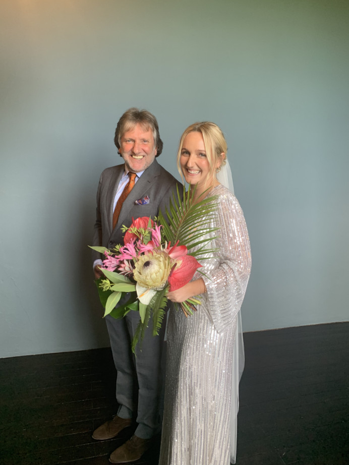The Lovely Lisa and her dad jut before walking down the isle in Borduex - Make Me Bridal Artist: Aston's Makeup and Beauty . Photography by: Own image. #boho #bridalmakeup #bridalhairandmakeup #destinationwedding #naturalweddingmakeup #summerwedding #summerbride #francewedding