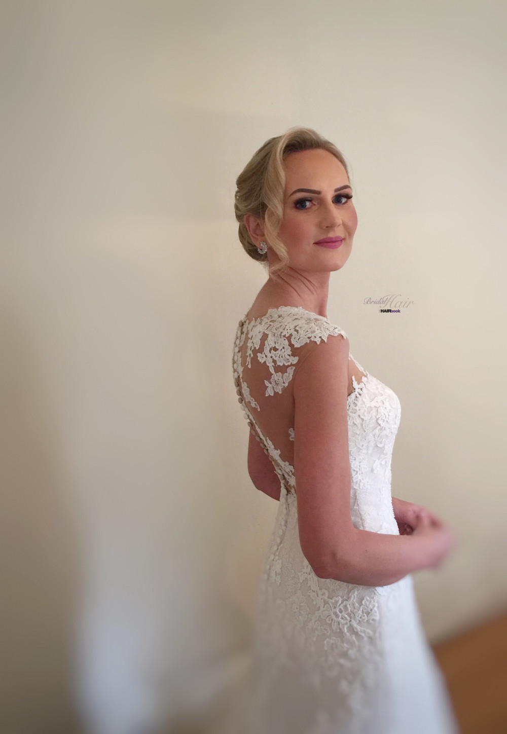 "My stunning bride on her wedding morning, just about to leave to say ""I Do"" - Make Me Bridal Artist: The Hairbook. #classic #vintage #glamorous #blonde #weddingmorning #bridalhair #chignon #weddinghair #bridalhairstylist"