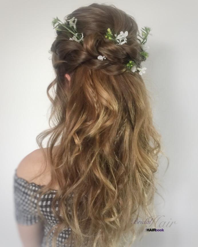 - Make Me Bridal Artist: The Hairbook. #bohemian #boho #flowercrown #halfuphair #curls #weddingmorning #bridalhair #relaxedupdo #bridalhairstylist #loosecurls #bride