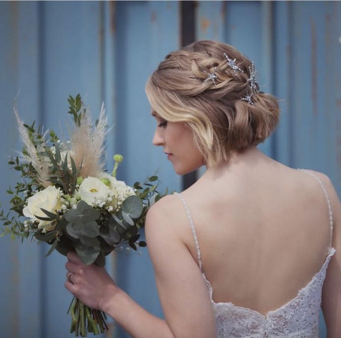 - Make Me Bridal Artist: The Hairbook. Photography by: Emma Brooks. #classic #vintage #glamorous #boho #halfuphair #curls #bridalhair #rustic #hairup #braid #plaits
