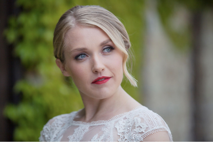 Even if you have short hair,; You absolutely can have an bridal updo - Make Me Bridal Artist: The Hairbook. Photography by: Emma Brooks. #bohemian #classic #glamorous #boho #blonde #bridalmakeup #bridalhair #updo #lowupdo #bun