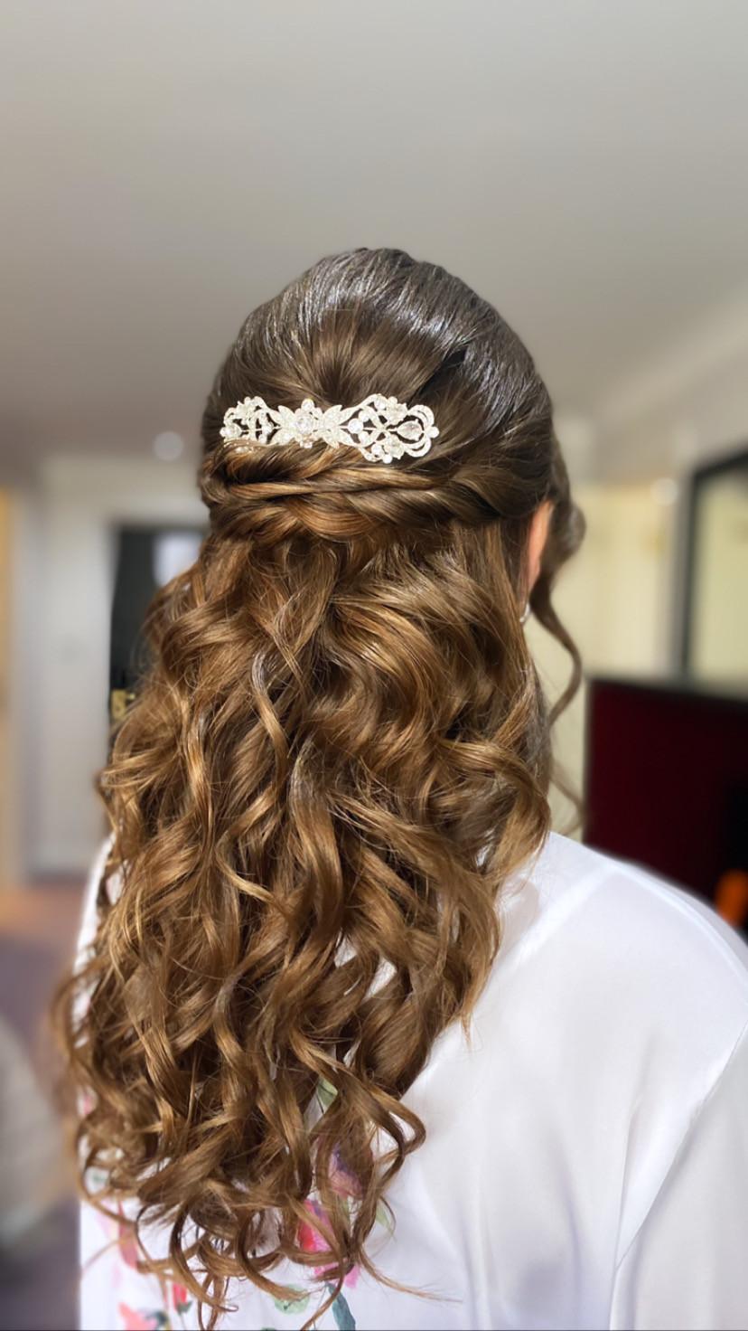 - Make Me Bridal Artist: The Hairbook. #bohemian #classic #glamorous #boho #halfuphair #curls #weddingmorning #bridalhair