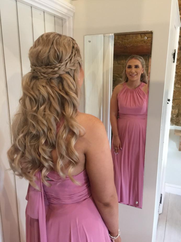 - Make Me Bridal Artist: The Hairbook. #bohemian #vintage #glamorous #boho #halfuphair #bridalhair #blonde #braid #weddinghair #plaits #bridesmaidhair