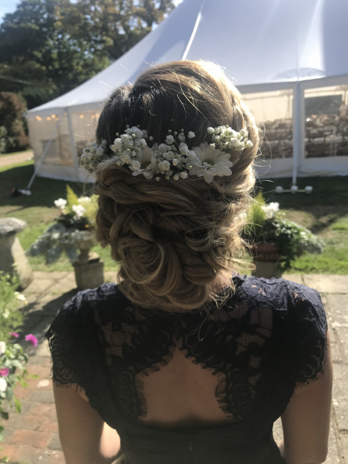 Wedding 2018  This Bridesmaids has the most amazing thick hair, i had so much fun creating this style for her. - Make Me Bridal Artist: Cheveux cimone. #bohemian #blonde #plaits #countryside #plaitupdo
