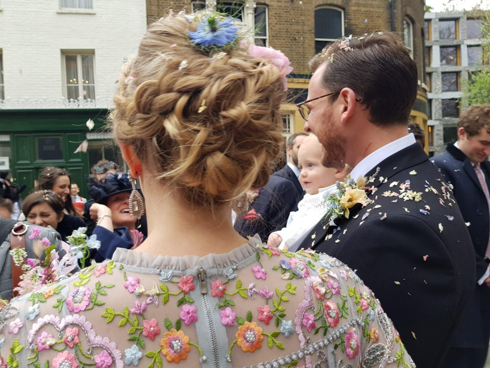 - Make Me Bridal Artist: Cheveux cimone. #bohemian #bridalhair #braidedupdo #flowersinhair #londonwedding #londonbride