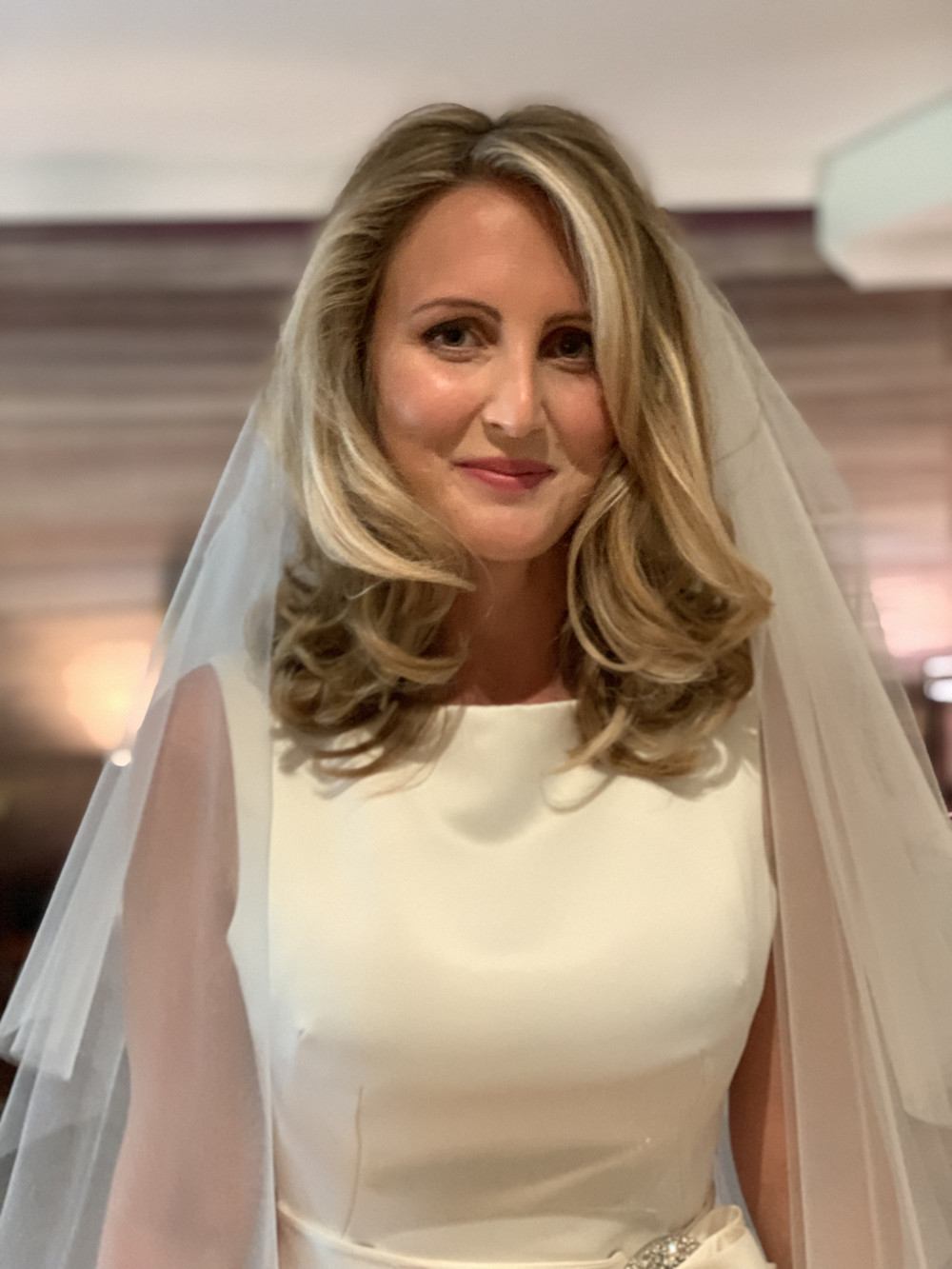 2019 Bride  This beauty was looking for a glamours bouncy blow dry for her special day. - Make Me Bridal Artist: Cheveux cimone. #glamorous #blonde #bridalhair #rollers #hairdown #bouncyblowdry