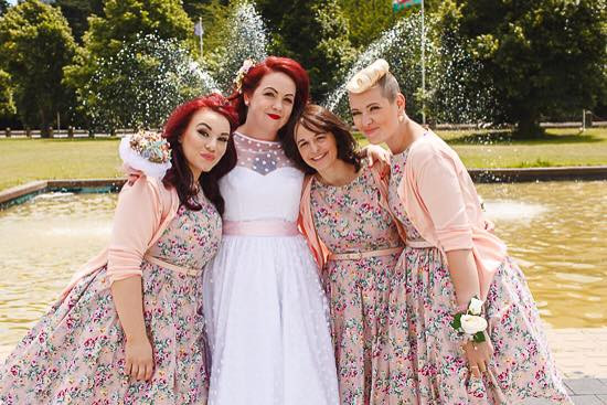 Vintage wedding, all hair & makeup by me for this lovely bridal party - Make Me Bridal Artist: Bombshell Makeup UK. #bridalmakeup #bridalhair #vintage #blonde #smoothcurls #bridesmaid #bridesmaidhair #bridesmaidhairandmakeup #redhead #redlip #bridesmaidmakeup #vintagemakeup #vintagehair #vintagewedding #vintagewaves #redhair #cardiff #cardiffwedding #vintageinspired