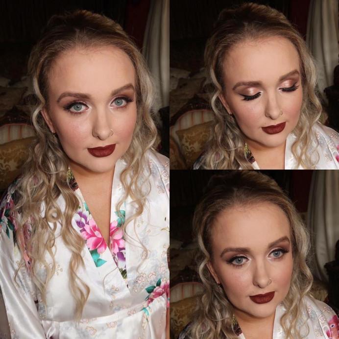 - Make Me Bridal Artist: Bombshell Makeup UK. #glamorous #curls #smokeyeyes #loosecurls #wingedliner #waves #wavyhair #glam #eyeliner #smokeyeye #glambride #autumn #winterwedding #rosegold #glammakeup #autumnwedding #liner #winter #hairdown #darklip