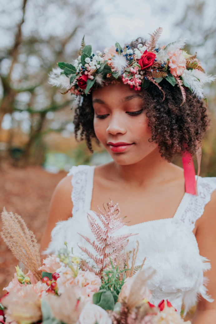 - Make Me Bridal Artist: Joanne Hook Makeup Artistry. Photography by: Vladana Parker. #bohemian #flowercrown #glow #festivalstyle #bohobride #bohowedding #rosegold #alternative #festivalmakeup #woodland #festivalwedding #forest