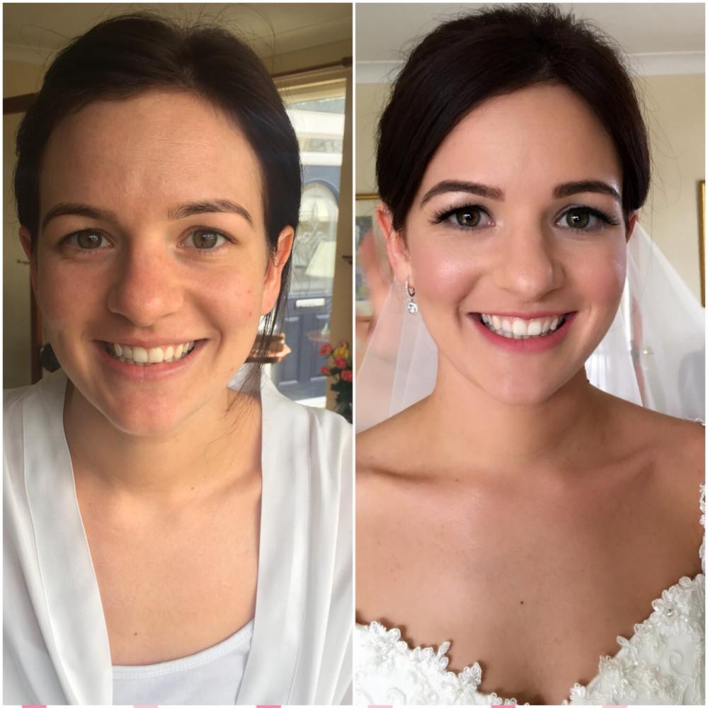 Natural, classic bridal makeup. - Make Me Bridal Artist: Tina Brocklebank Make-up artist.