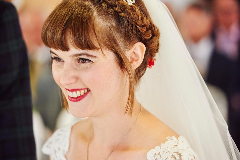 Vintage bridal makeup with a little contemporary twist. Red lip with black eyeliner. - Make Me Bridal Artist: Claire Bowring Makeup Artist. #vintage #glamorous #bridalmakeup #elegant #redlip #bride #eyeliner