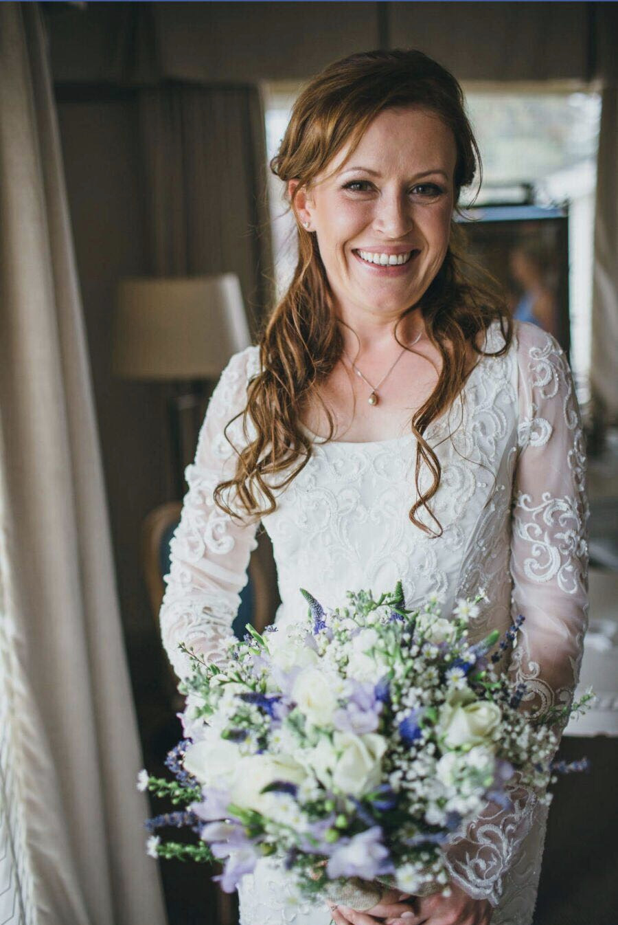 The gorgeous Charlotte on her wedding in Southend at The Roslin Beach Hotel in 2016. 