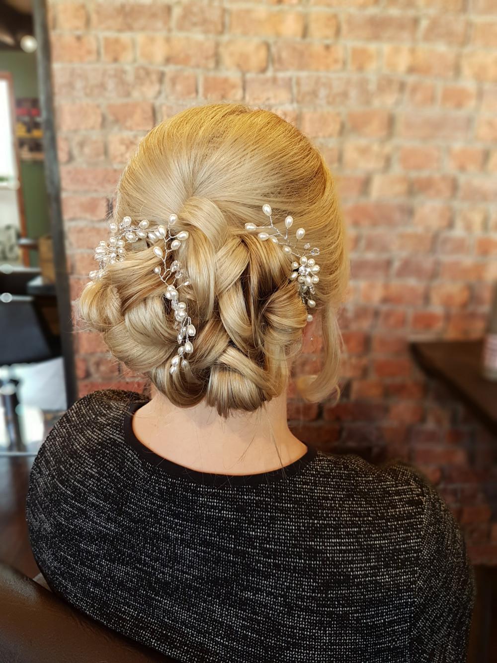 Beautiful bridal up style Hair by Victoria - Make Me Bridal Artist: Swaffields Lilliput hair salon . #curls #bridalhair #updo #soft #weddinghair #bridalhair