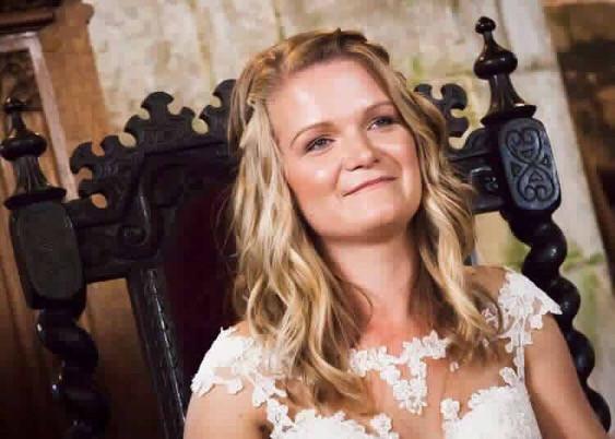 Loved this look for Steph - Make Me Bridal Artist: Debbie Mac Hair and Make-up Artisti. #naturalmakeup #halfuphair #weddingmorning #airbrushedmakeup