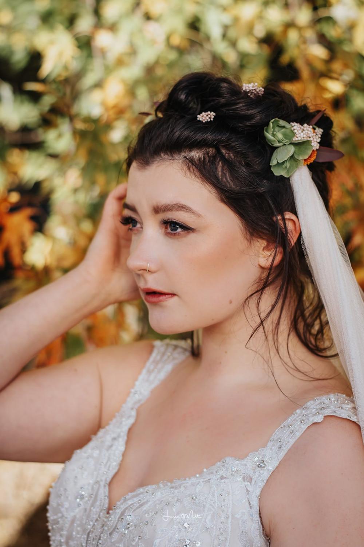 - Make Me Bridal Artist: Rachel Lindsey MUA. Photography by: Lucie MLT. #bohobride #freshmakeup #autumnwedding #prettymakeup #autumnal